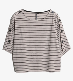 HK WORKS LONDON -  폴리 스트라이프 티셔츠   Women L / Color - Stripe