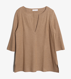 JPN -  울 절개 탑   Women L / Color - Brown