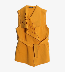 YSSINE SOLE -  폴리 레이온 랩 가디건   Made In Italy  Women M / Color - Yellow