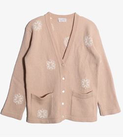 TRICOT CHIC - 트리콧 시크 울 브이넥 가디건   Made In Italy  Women M / Color - Beige