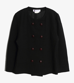 GIVENCHY - 지방시 울 논카라 더블 자켓   Made In France  Women M / Color - Black