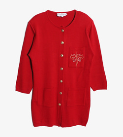 CONTROLUCE -  울 아크릴 가디건   Made In Italy  Women S / Color - Red