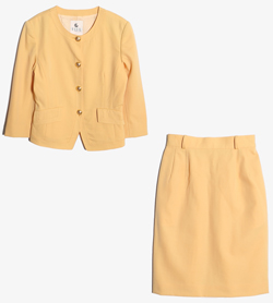ELLE SPORTS - 엘르 울 투피스 셋업   Women M / Color - Yellow