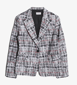 MARCELLA - 마르셀라 코튼 린넨 체크 자켓   Made In Italy  Women M / Color - Check