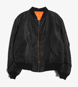 ALPHA INDUSTRIES - 알파인더스트리 나일론 MA-1 항공점퍼   Made In Usa  Man M / Color - Black