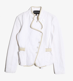 EMPORIO ARMANI - 엠프리오 아르마니 코튼 린넨 자켓   Made In Italy  Women S / Color - White