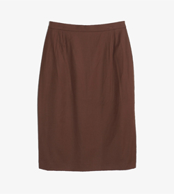 ESCADA - 에스카다 울 H라인 스커트   Made In Germany  Women M / Color - Brown